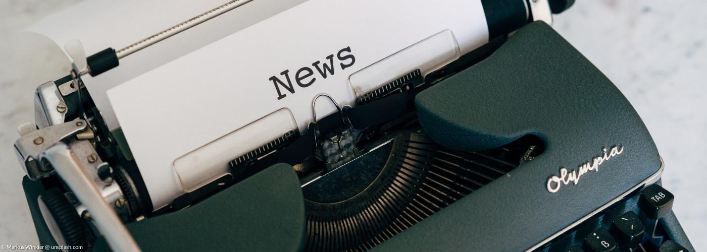 Schreibmaschine mit News